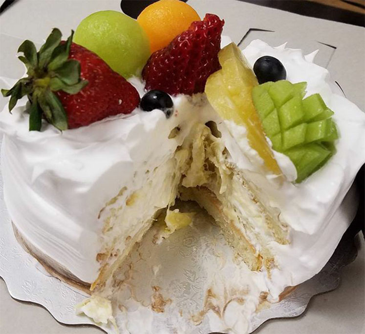 "by @vivakay (Instagram)""We just shared a cake with durian filling, the food even Andrew Zimmern @chefaz from ""Bizarre Foods"" @bizarrefoods couldn't deal  Read More"